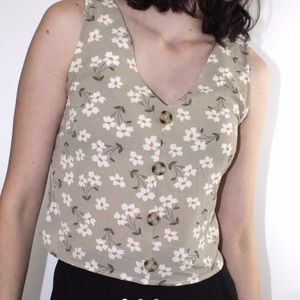 ⚠️3for25 Floral cream crop top